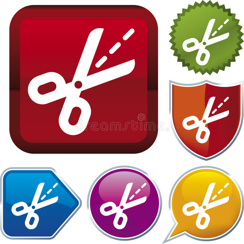 Icon series: scissors vector illustration