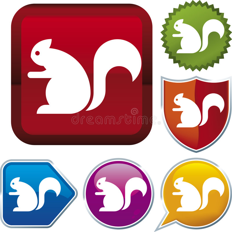 Icon series: squirrel royalty free illustration