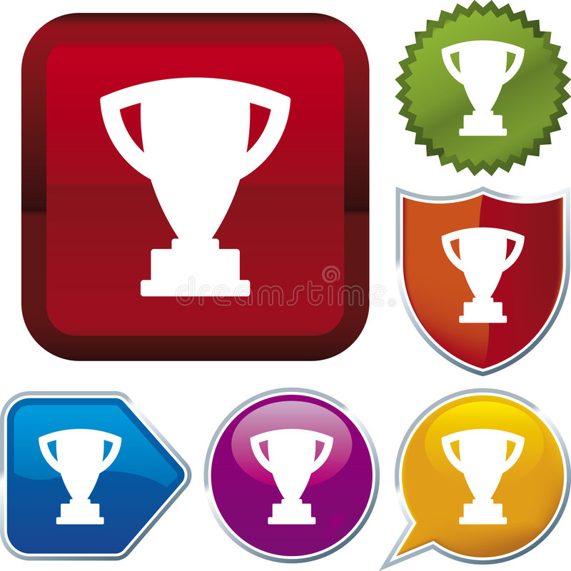 Icon series: trophy (vector) royalty free illustration