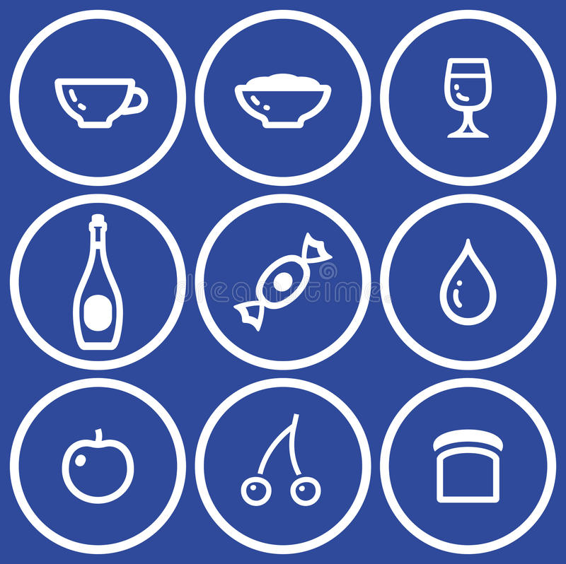 Download Icon Set– Food And Drink (Vector) Stock Vector - Image: 9678012