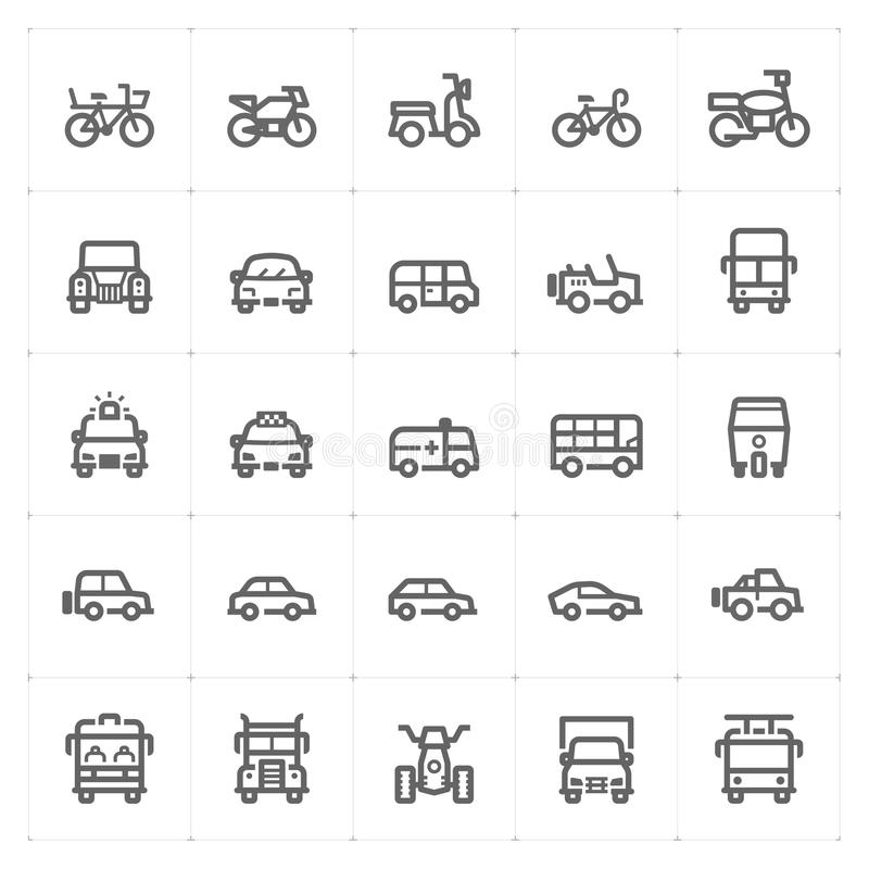 Icon set – vehicle and transport vector illustration vector illustration