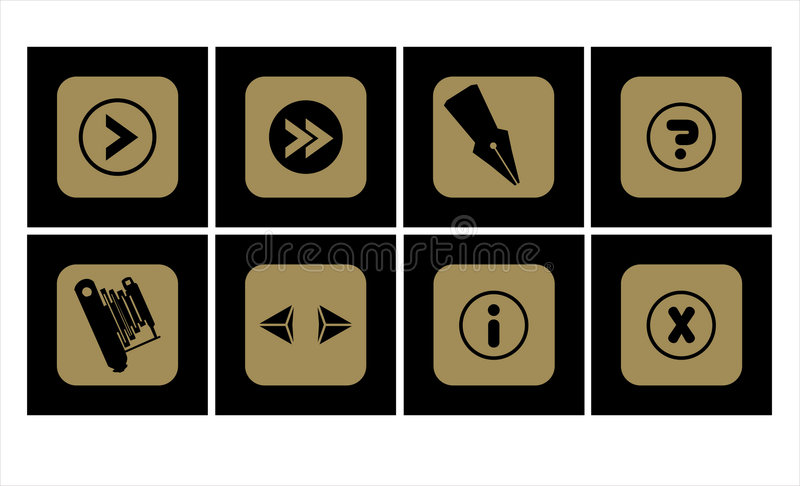 Icon Set 1 Royalty Free Stock Images