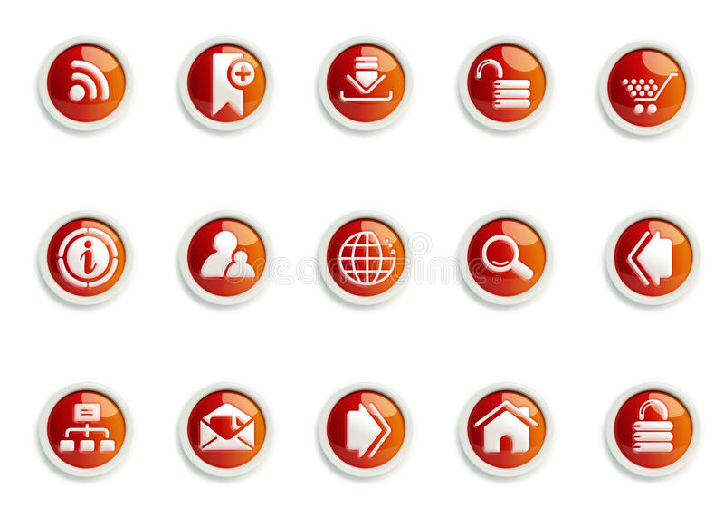 Icon Set. Stylized Website and Internet icon designs, for use in your products and presentations royalty free illustration