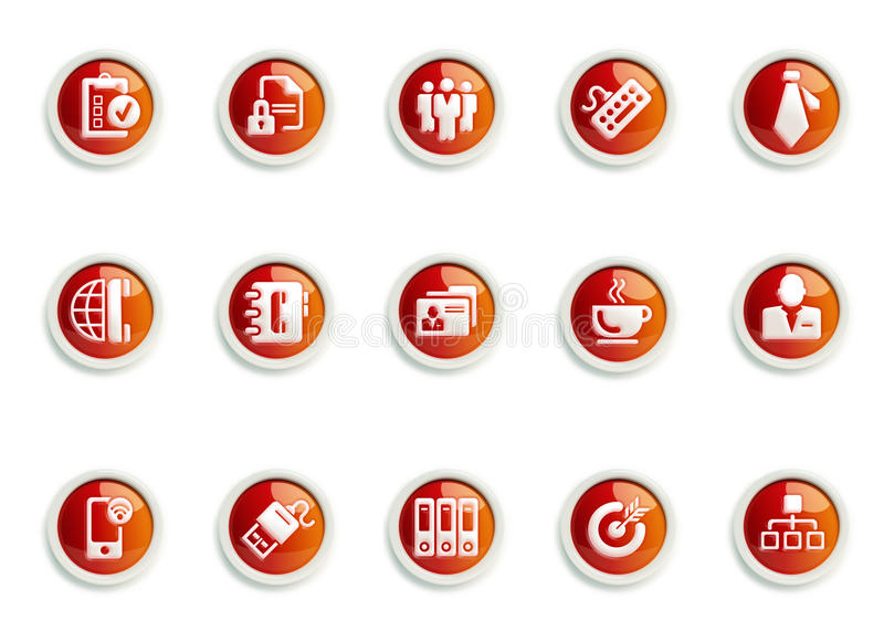 Icon Set. Stylized Business & Office icon designs, for use in your products and presentations stock illustration