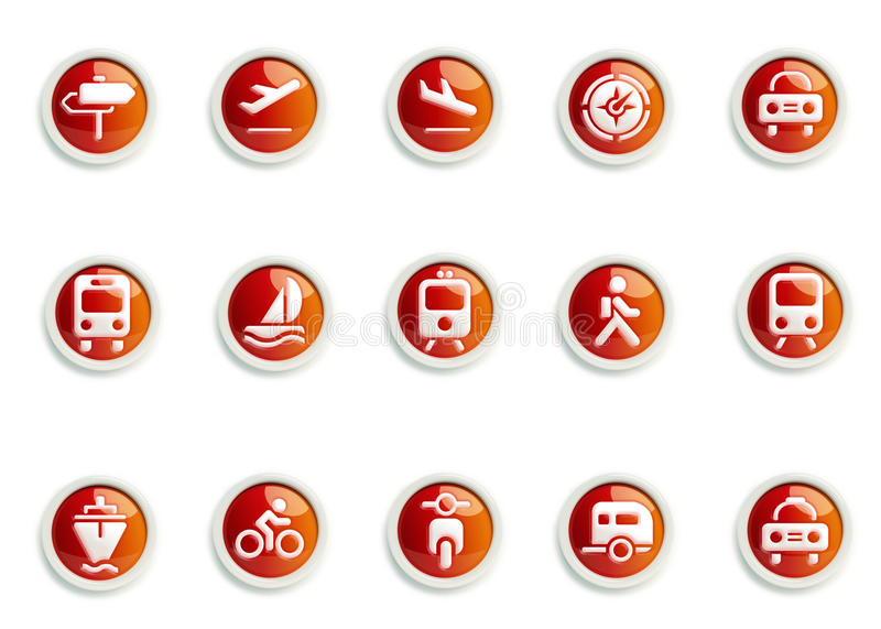 Icon set. Stylized Transportation icon designs, for use in your products and presentations stock illustration