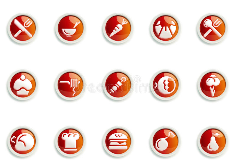 Download Icon set stock illustration. Image of fruit, seafood - 17703991