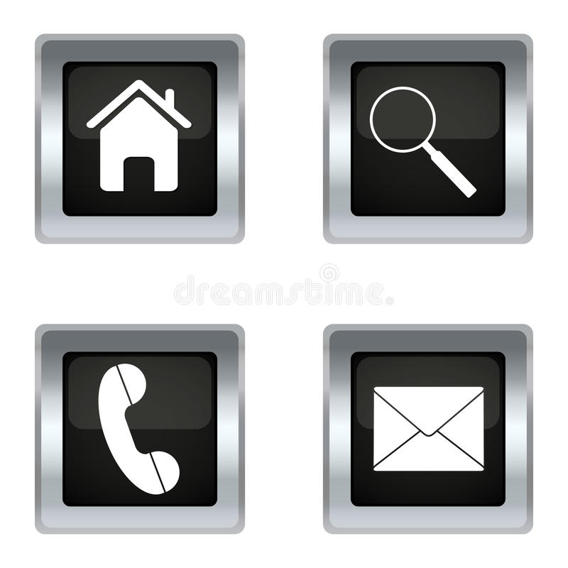 Download Icon set stock vector. Image of electronic, getting, call - 26896589