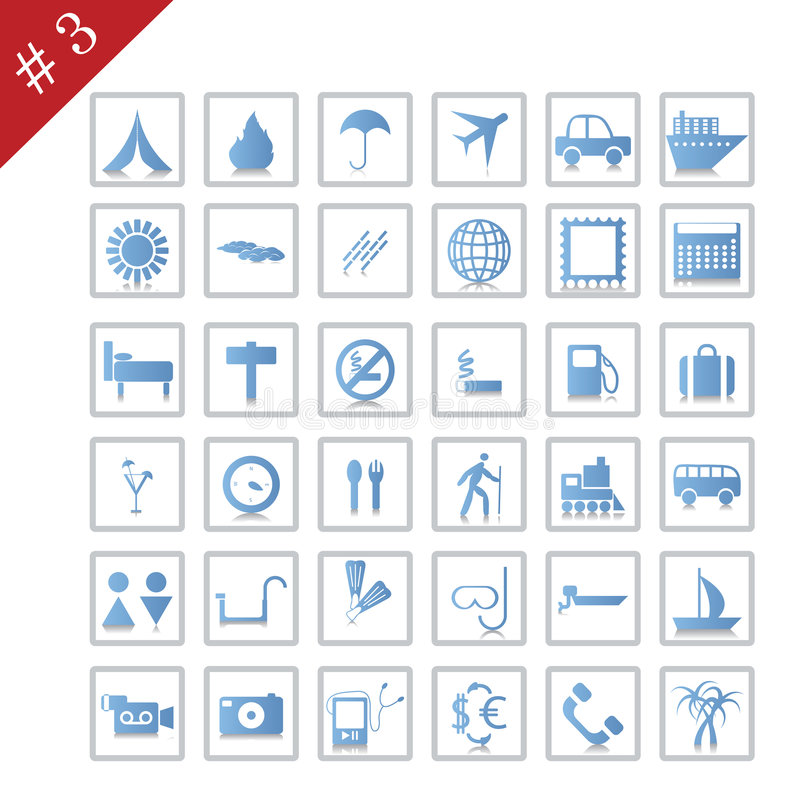 Icon Set #3 Stock Images