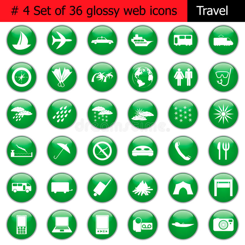 Icon Set #4 Travel Stock Photos
