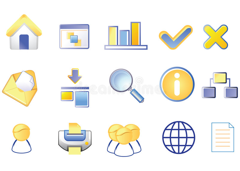 Download Icon set stock vector. Image of planet, people, tools - 7902408