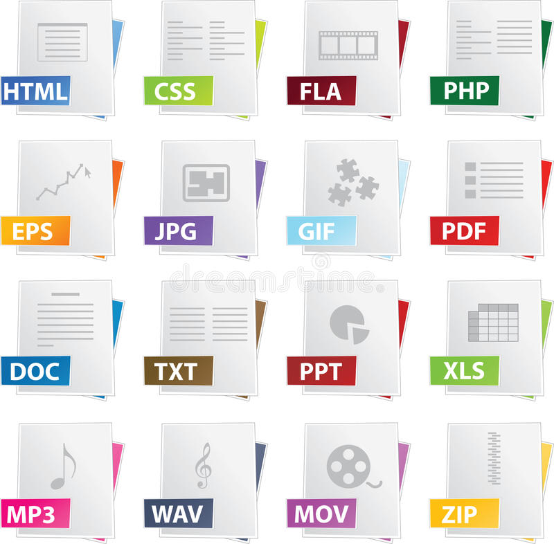 Download Icon Set stock vector. Illustration of diagram, picture - 9732644