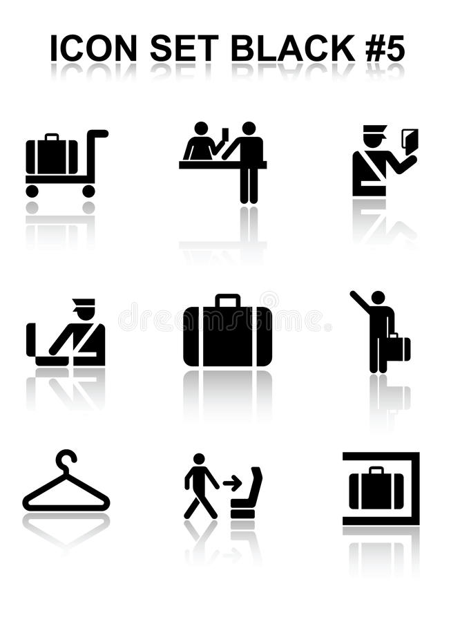 Download Icon Set Black #5 stock vector. Image of documents, black - 18341083