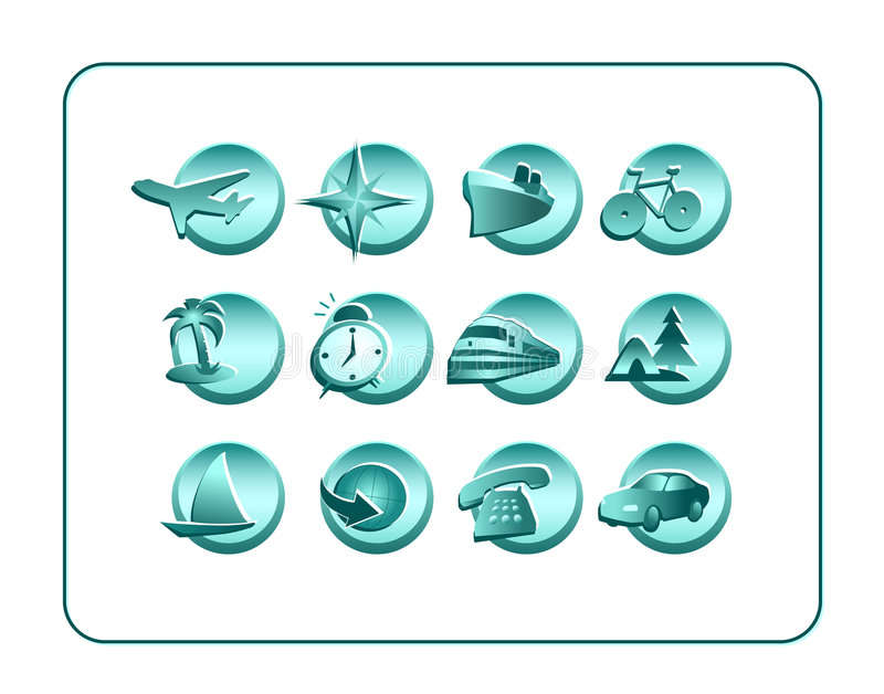 Download Icon Set With Clipping Paths Stock Illustration - Illustration: 1036236
