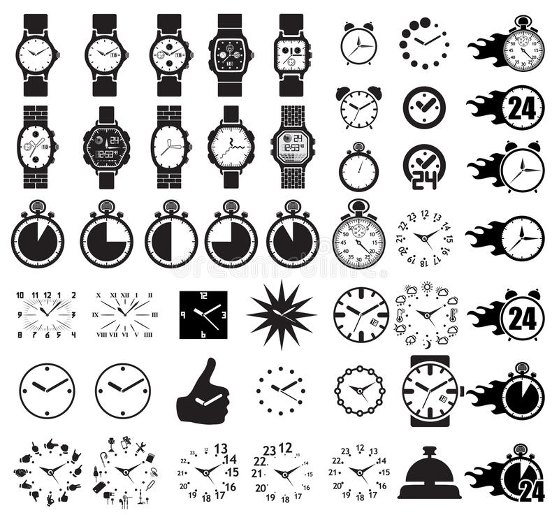 Icon set clocks. Vector illustration vector illustration