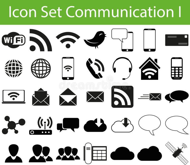 Icon Set Communication I vector illustration