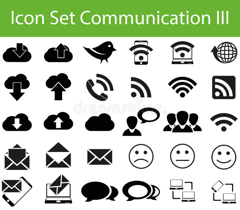 Icon Set Communication III. With 30 icons for different purchase for web and graphic design royalty free illustration