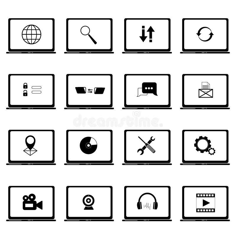 icon set computer icon database icon networking icon big