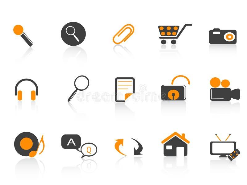 Icon set for design. 15 different kind of icon set for design royalty free illustration