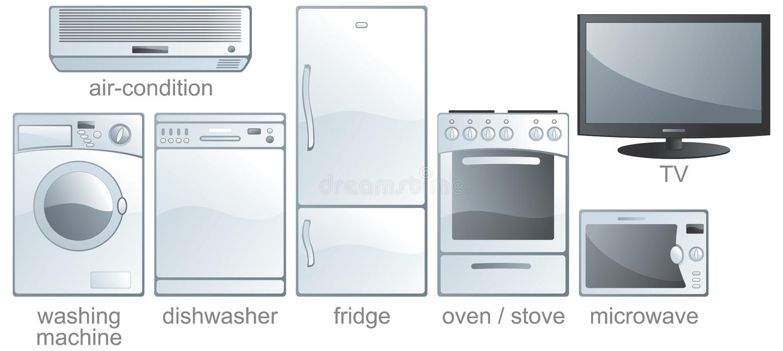 Icon set - home equipment royalty free stock photography