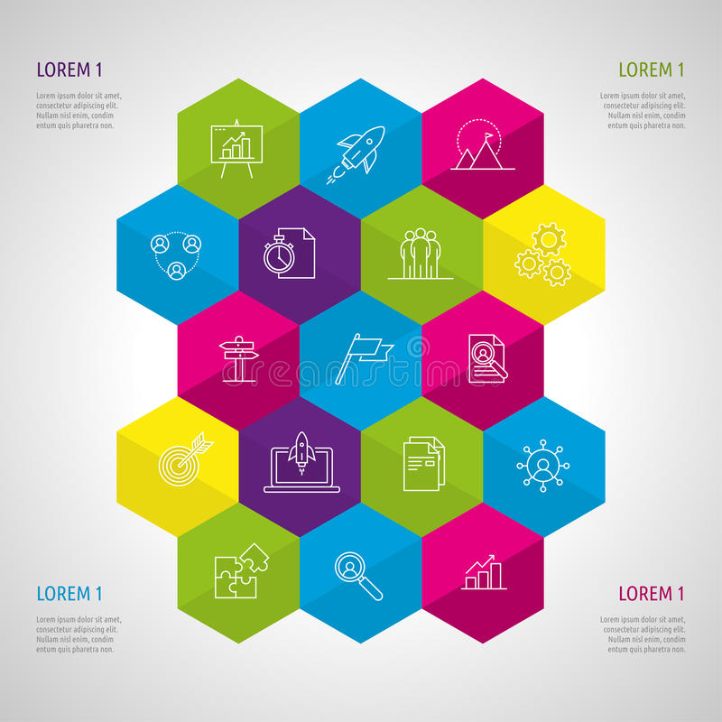 Icon Set and Infographics. stock images