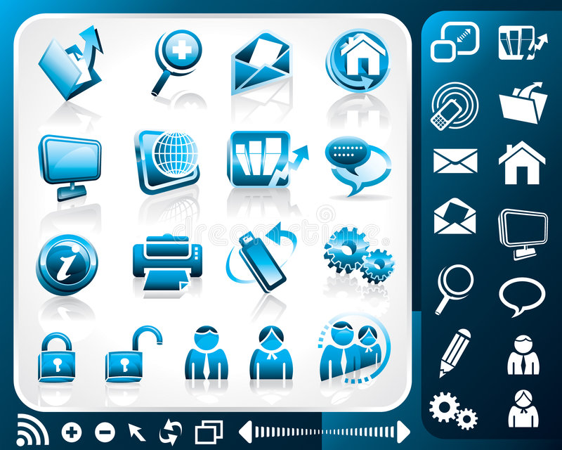Icon set of internet. Vector illustration layers file royalty free illustration