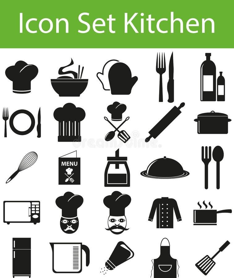 Icon Set Kitchen stock illustration
