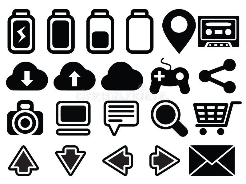 Icon set media computer vector illustration