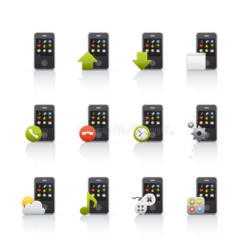 Download Icon Set - Mobile Comunications Stock Vector - Illustration of mail, envelope: 11433622