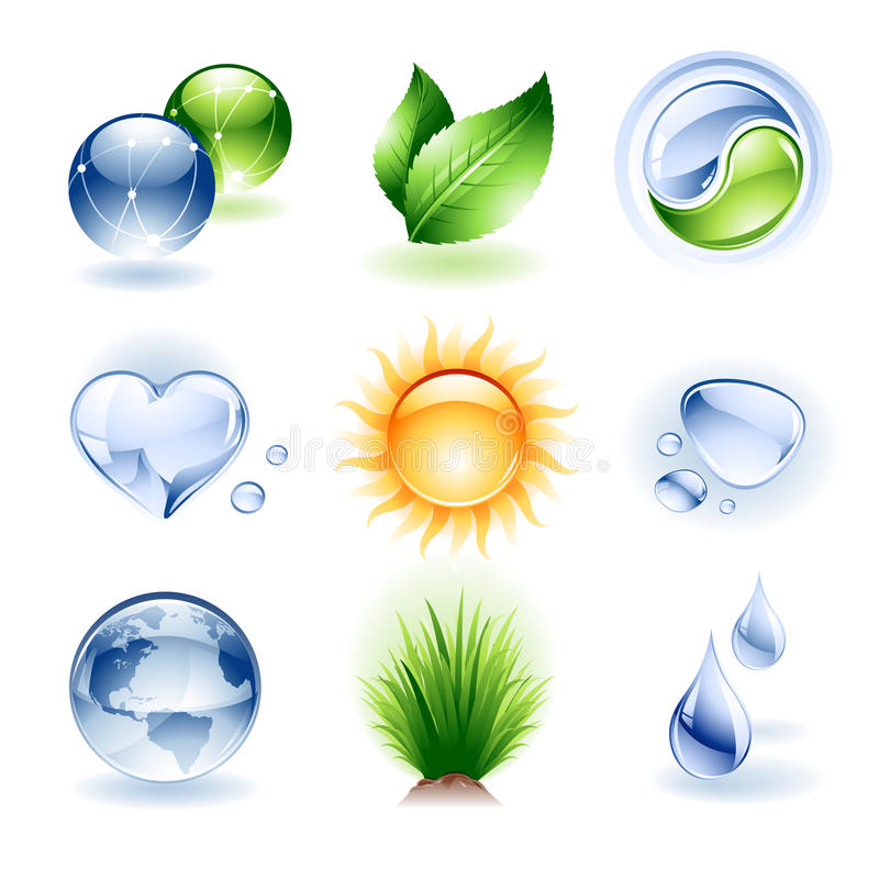 Download Icon Set - Nature Royalty Free Stock Images - Image: 23808459