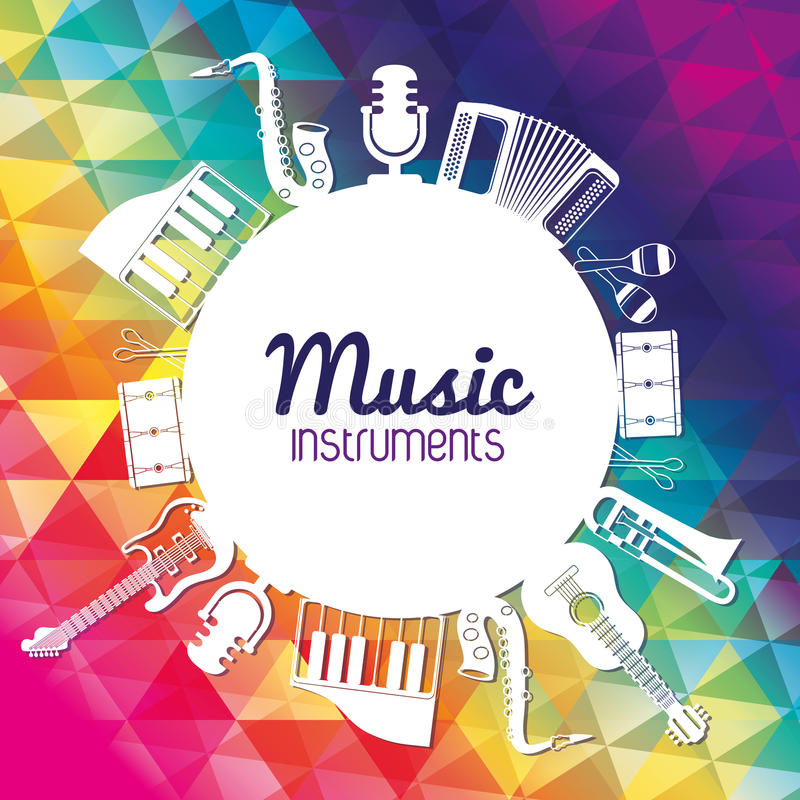 Free Icon Set Of Music Instrument. Vector Graphic Royalty Free Stock Photo - 73174725