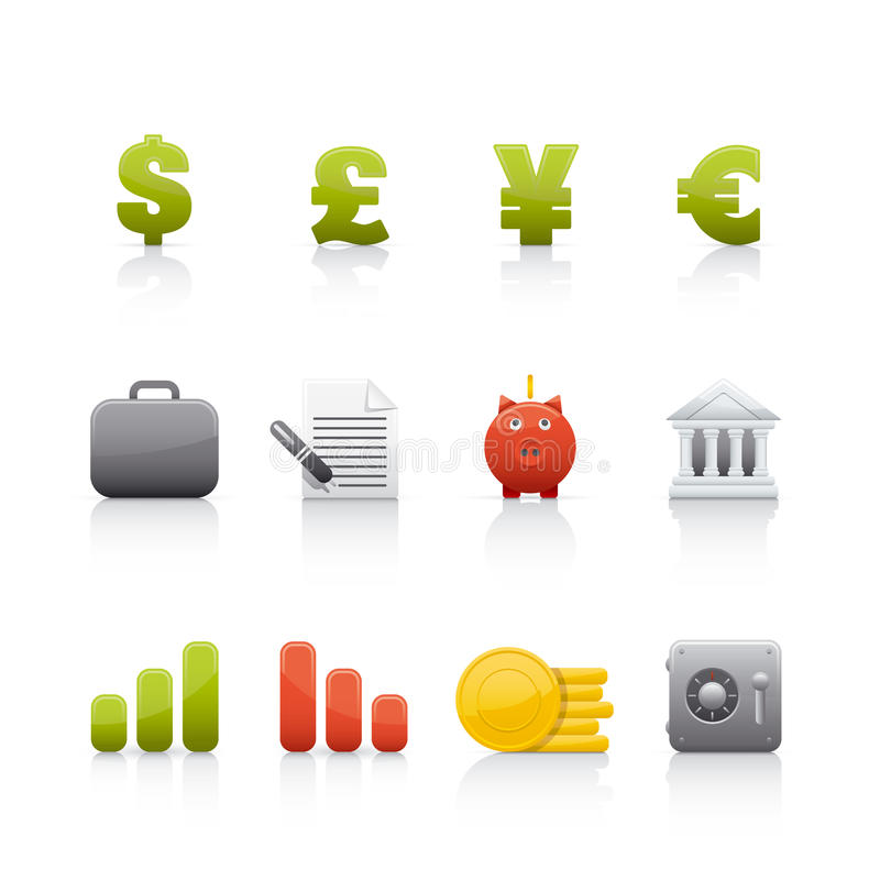 Download Icon Set - Office & Bussines Stock Vector - Image: 10358069