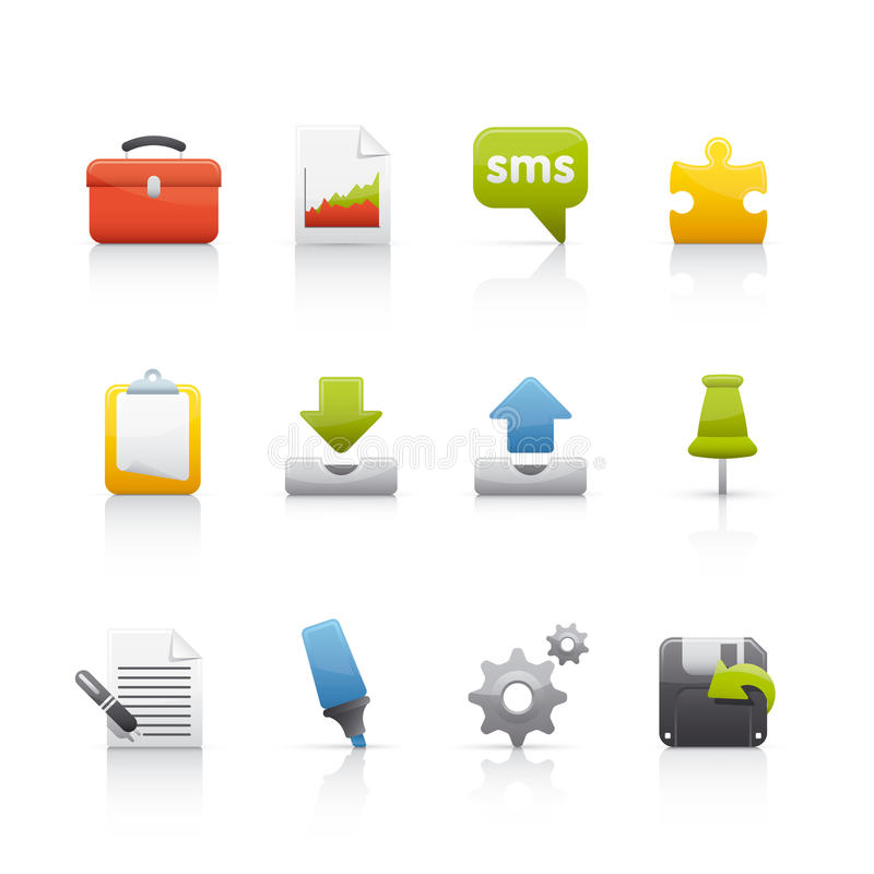 Free Icon Set - Office & Bussines Royalty Free Stock Images - 10358119