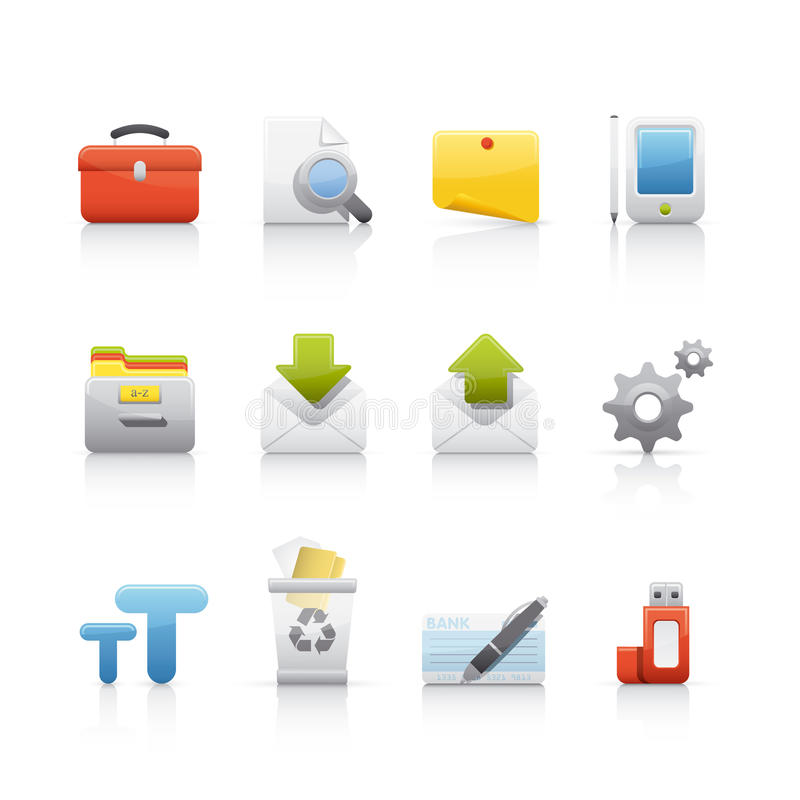 Free Icon Set - Office & Bussines Royalty Free Stock Image - 10358136