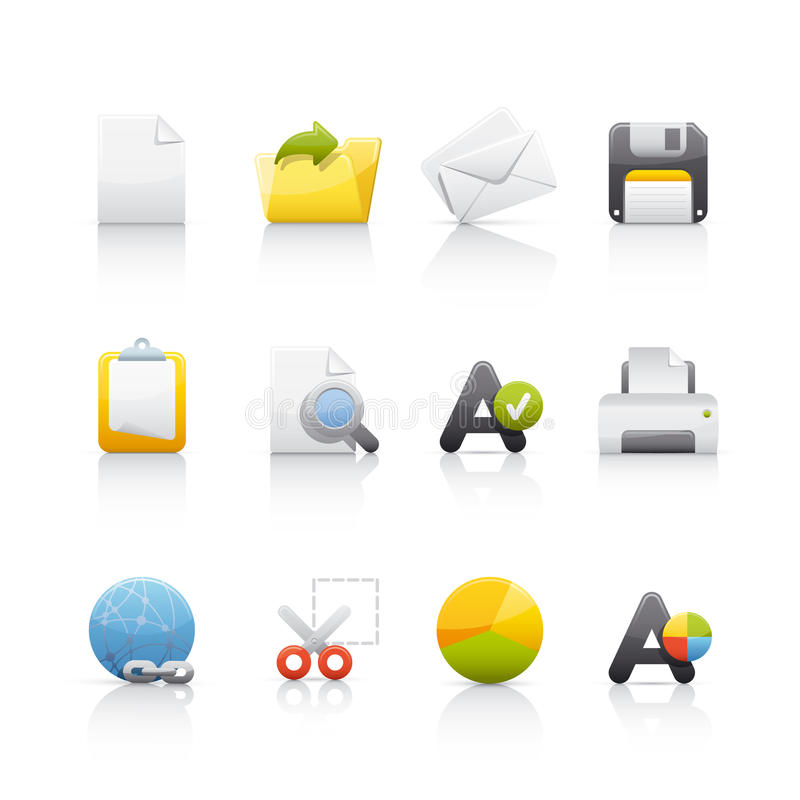 Free Icon Set - Office & Bussines Stock Photo - 10358160