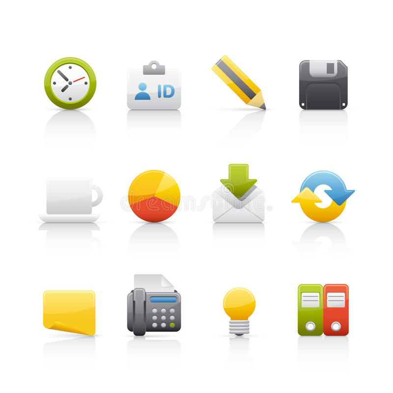 Free Icon Set - Office & Bussines Royalty Free Stock Images - 10358189