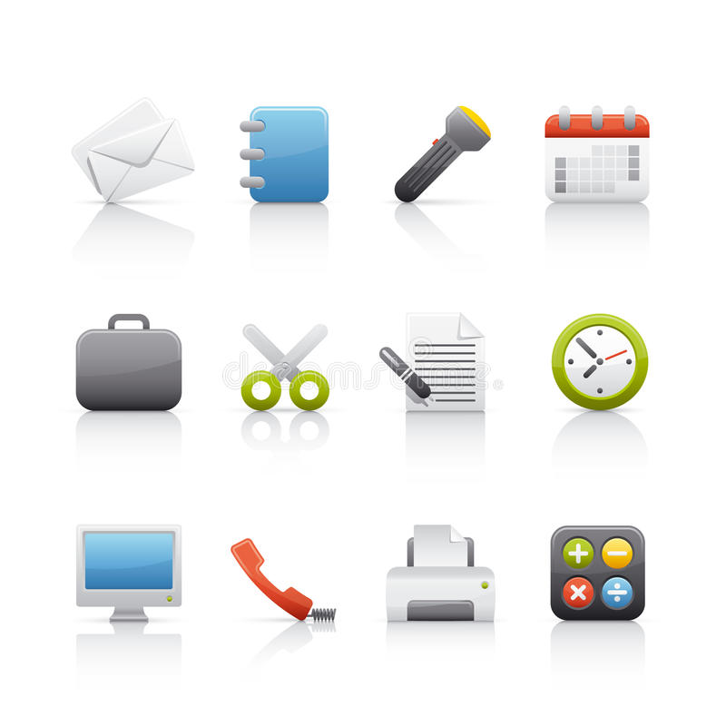 Free Icon Set - Office & Bussines Royalty Free Stock Photos - 10358208