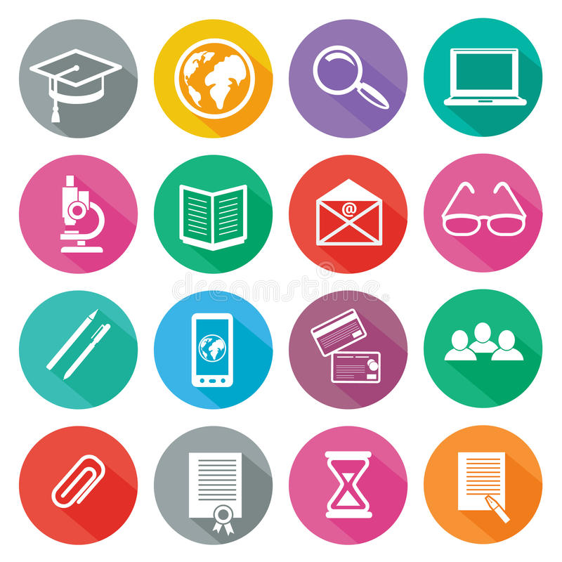 Icon Set For Professional Training And Elearning Stock ...