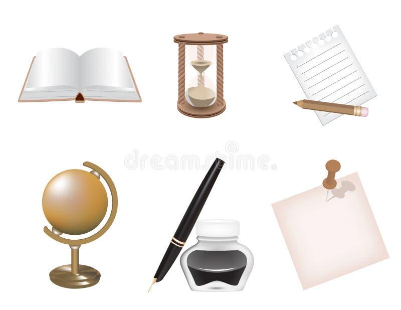 Download Icon set stock vector. Image of calendar, element, pencil - 30086149