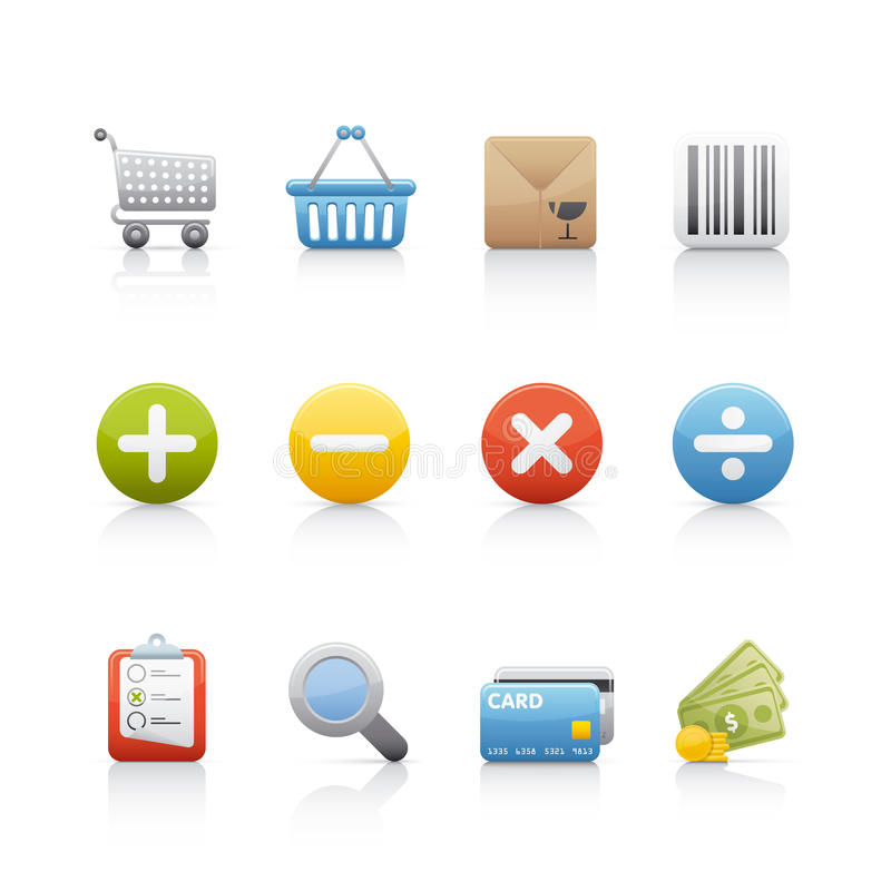 Download Icon Set - Shopping stock vector. Image of graphic, sets - 11433713