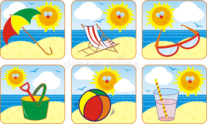 Download Icon Set Summer & Sun, Vector Stock Photography - Image: 853922
