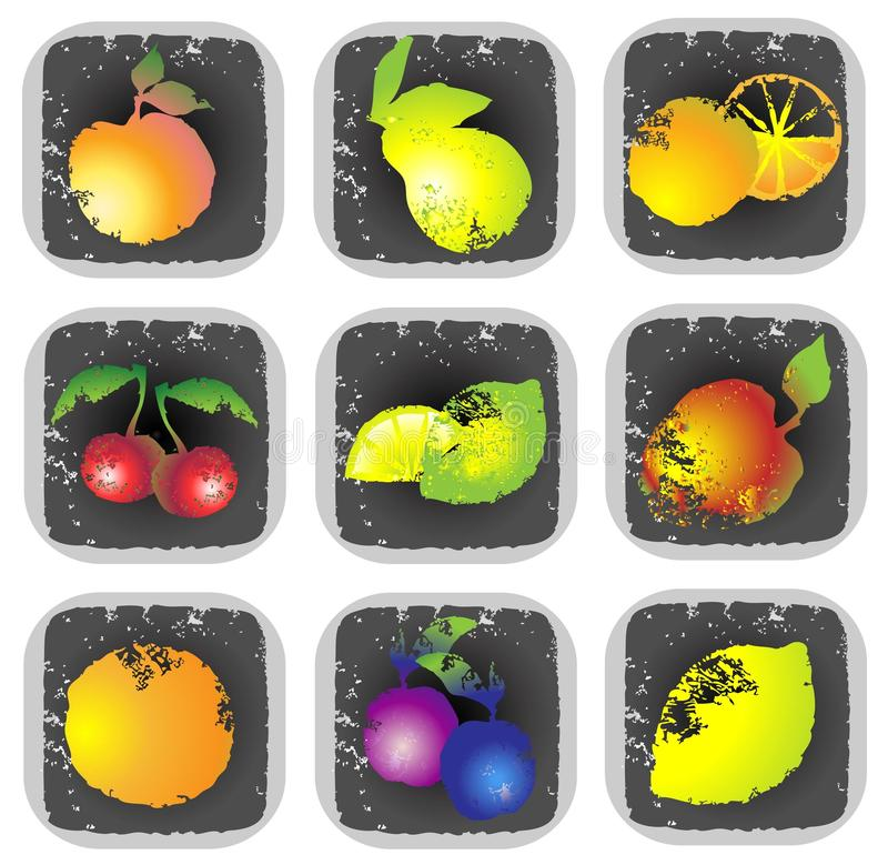 Download Icon Set Of Various Fruit And Vegetables. Illustra Stock Vector - Image: 18915399