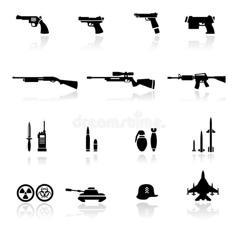 Icon set Weapons vector illustration