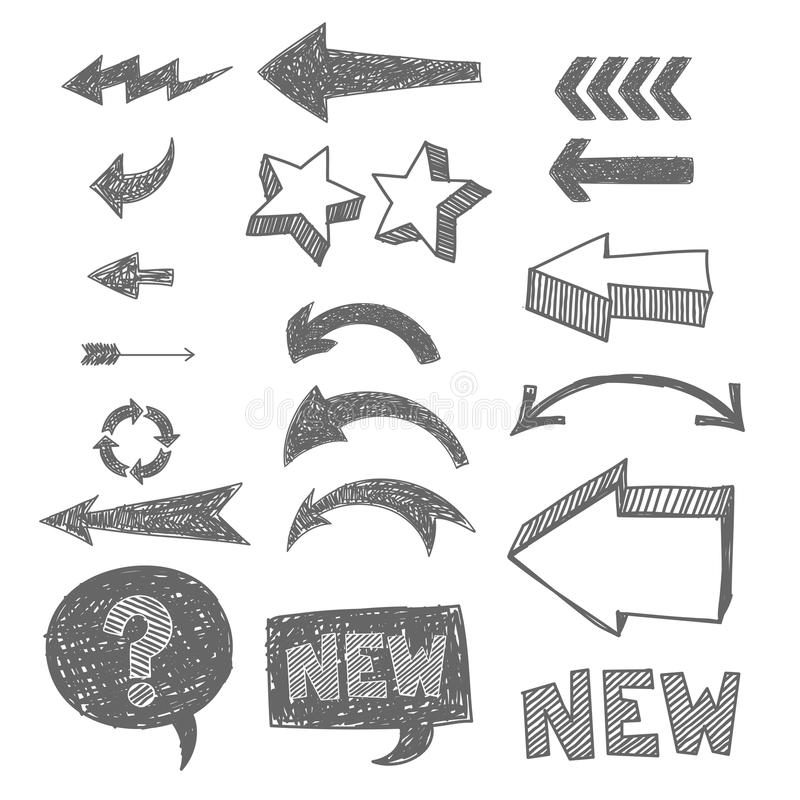 Icon set for web. Hand-drawn icon set for web vector illustration
