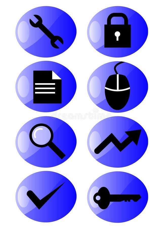 icon set web иллюстрация штока