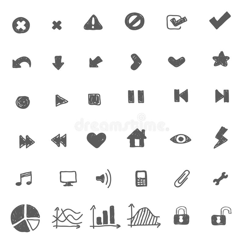 Download Icon Set For Web, Music, Video Stock Vector - Image: 28528571