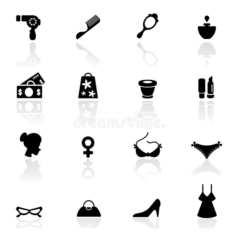 Download Icon Set  Women Accessories And Fashion Symbols Stock Vector - Image: 18749646