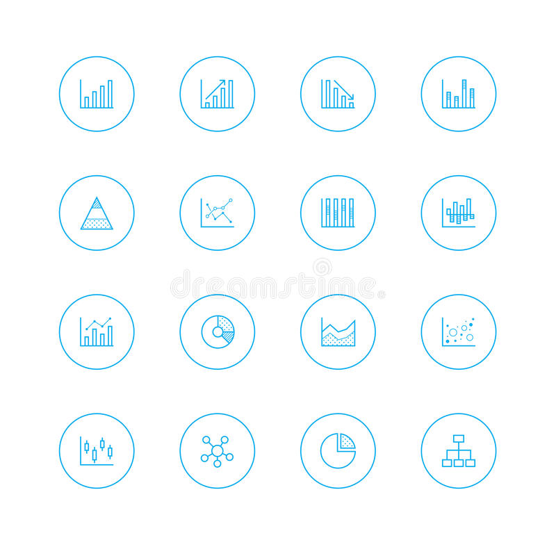 Icon sets with circle royalty free stock photos