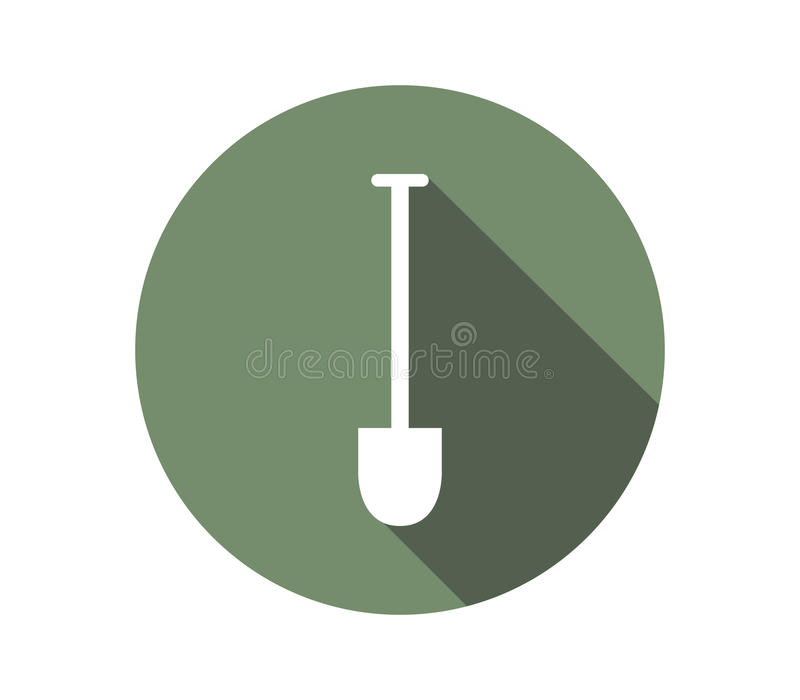 Icon shovel to dig. On a white background stock illustration