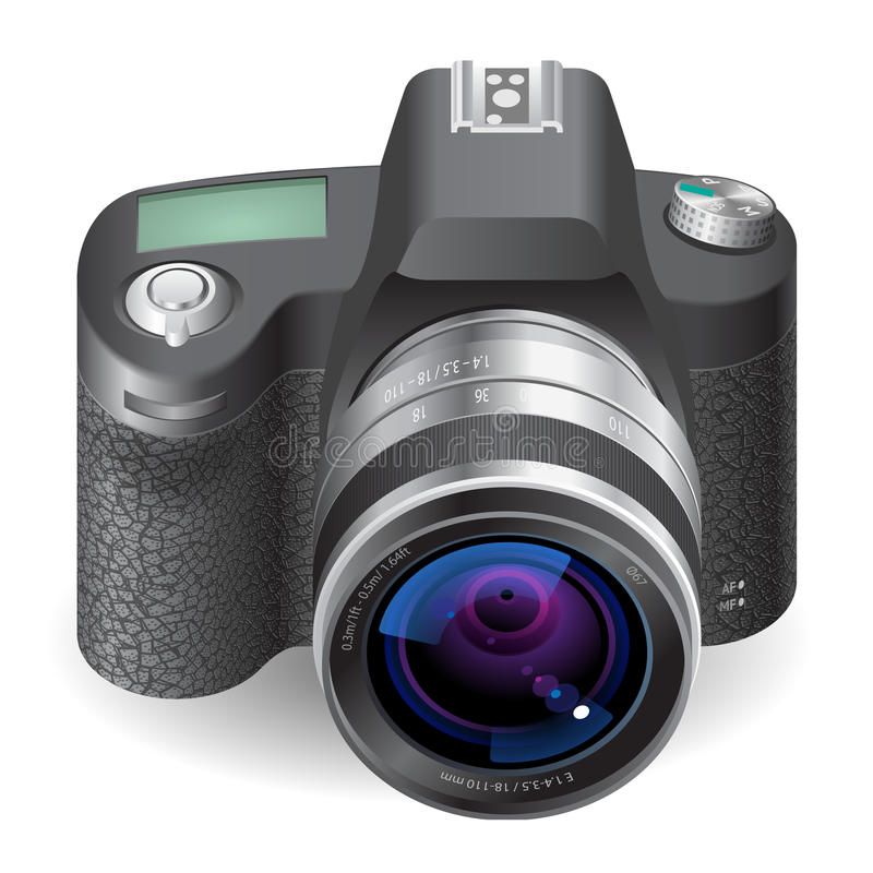 Download Icon for SLR camera stock vector. Illustration of reflex - 24501120