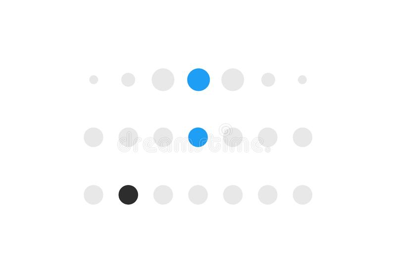 Icon of social networks. Loading panel or dotted line. Icon of social networks. Loading panel or dotted line royalty free illustration